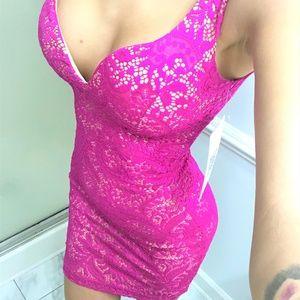 NWT Emerald Sundae hot pink lace dress